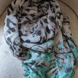 Leopard print oblong shimmer scarf by Icing